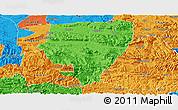 Political Panoramic Map of Xuyong