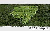 Satellite Panoramic Map of Xuyong, darken