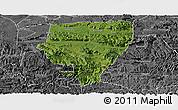 Satellite Panoramic Map of Xuyong, desaturated