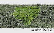 Satellite Panoramic Map of Xuyong, semi-desaturated