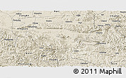 Shaded Relief Panoramic Map of Xuyong