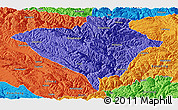 Political Panoramic Map of Yajiang