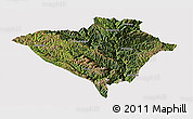 Satellite Panoramic Map of Yajiang, cropped outside