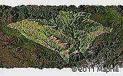 Satellite Panoramic Map of Yajiang, darken
