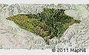 Satellite Panoramic Map of Yajiang, lighten