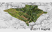 Satellite Panoramic Map of Yajiang, physical outside
