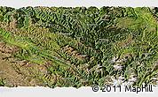 Satellite Panoramic Map of Yajiang