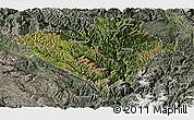 Satellite Panoramic Map of Yajiang, semi-desaturated