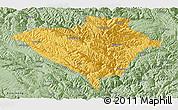 Savanna Style Panoramic Map of Yajiang
