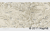 Shaded Relief Panoramic Map of Yajiang