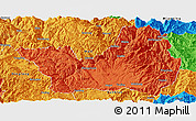 Political Panoramic Map of Yanyuan