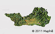 Satellite Panoramic Map of Yanyuan, cropped outside