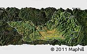 Satellite Panoramic Map of Yanyuan, darken