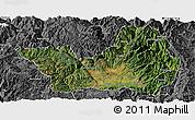 Satellite Panoramic Map of Yanyuan, desaturated