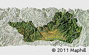 Satellite Panoramic Map of Yanyuan, lighten