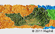 Satellite Panoramic Map of Yanyuan, political outside