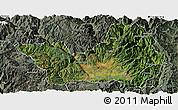 Satellite Panoramic Map of Yanyuan, semi-desaturated