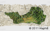Satellite Panoramic Map of Yanyuan, shaded relief outside