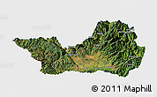 Satellite Panoramic Map of Yanyuan, single color outside