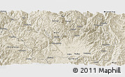 Shaded Relief Panoramic Map of Yanyuan