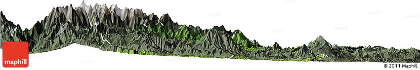 Satellite Horizon Map of Yingjing, semi-desaturated