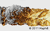 Physical Panoramic Map of Yingjing