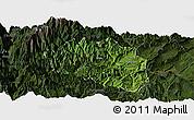 Satellite Panoramic Map of Yingjing, darken