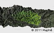 Satellite Panoramic Map of Yingjing, darken, semi-desaturated