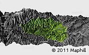 Satellite Panoramic Map of Yingjing, desaturated