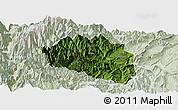 Satellite Panoramic Map of Yingjing, lighten