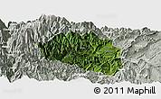 Satellite Panoramic Map of Yingjing, lighten, semi-desaturated