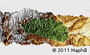 Satellite Panoramic Map of Yingjing, physical outside