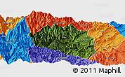 Satellite Panoramic Map of Yingjing, political outside