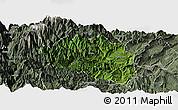 Satellite Panoramic Map of Yingjing, semi-desaturated