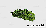 Satellite Panoramic Map of Yingjing, single color outside