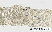 Shaded Relief Panoramic Map of Yingjing