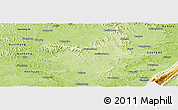 Physical Panoramic Map of Yuechi