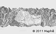 Gray Panoramic Map of Yuexi
