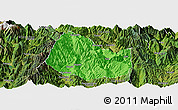 Political Panoramic Map of Yuexi, satellite outside