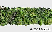 Satellite Panoramic Map of Yuexi