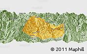 Savanna Style Panoramic Map of Yuexi