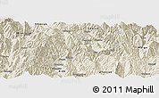 Shaded Relief Panoramic Map of Yuexi