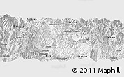 Silver Style Panoramic Map of Yuexi