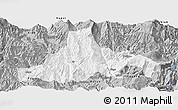 Gray Panoramic Map of Zhaojue