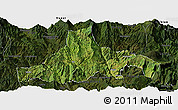 Satellite Panoramic Map of Zhaojue, darken