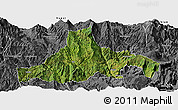 Satellite Panoramic Map of Zhaojue, desaturated