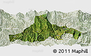 Satellite Panoramic Map of Zhaojue, lighten