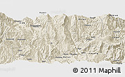 Shaded Relief Panoramic Map of Zhaojue