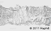 Silver Style Panoramic Map of Zhaojue