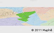 Political Panoramic Map of Zigong Shiqu, lighten